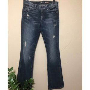 7FAM | Distressed Bootcut Jeans